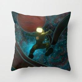 Cosmonaut: Untethered Throw Pillow