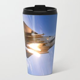 f-15 jet launching missile Travel Mug