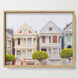 Painted Ladies - San Francisco Travel Photography Serving Tray