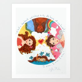 Sylvia Plath inspired I listened to my heart Print Art Print