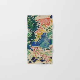 Landscape at Collioure - Henri Matisse - Exhibition Poster Hand & Bath Towel