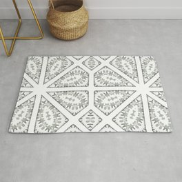Tiles with abstract winter spirit Rug