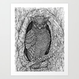 The Great Horned Night Owl by Kent Chua Art Print