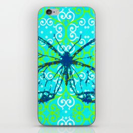 butterfly/motives/colorful/pattern/oldie iPhone Skin