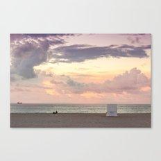 Sunrise in South Beach Canvas Print