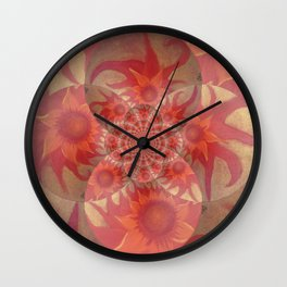 Radiantly Red- Revamped Wall Clock