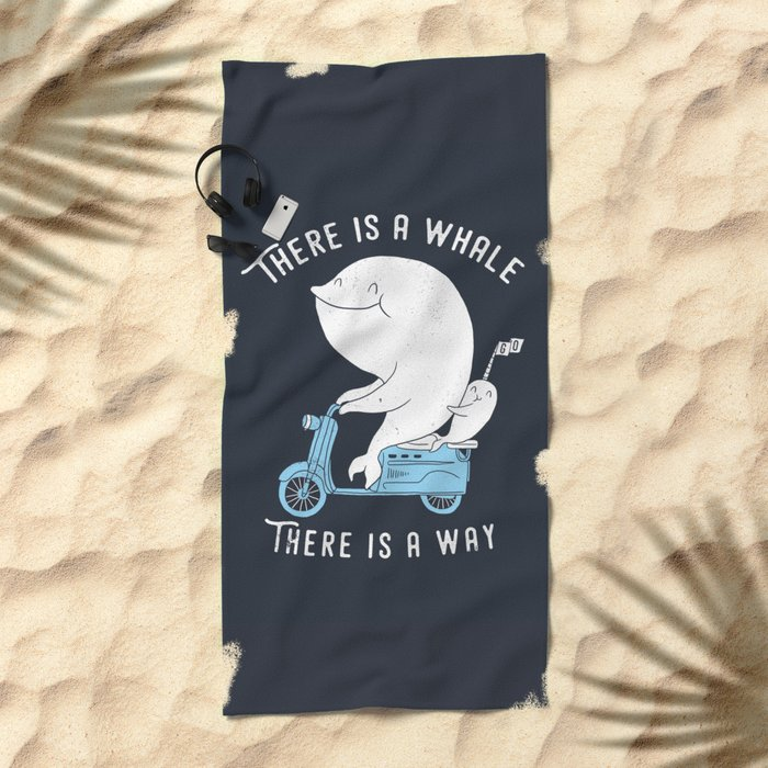 There is a whale Beach Towel