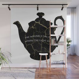 The Wound Is The Place Where The Light Enters You - Rumi Quote Wall Mural