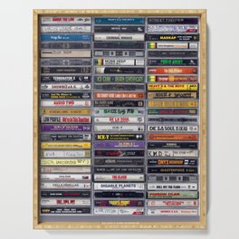 Old School 80's and 90's Hip Hop Tapes v2 Serving Tray