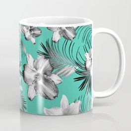 Tropical Flowers Palm Leaves Finesse #5 #tropical #decor #art #society6 Coffee Mug
