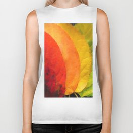 Collection beautiful colorful autumn leaves Biker Tank