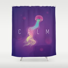 C A L M Shower Curtain