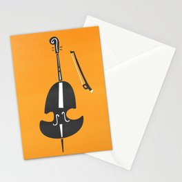 Double Bass Jazz Stationery Cards