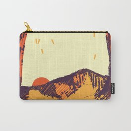 Upward over the Mountain: Sunset Carry-All Pouch