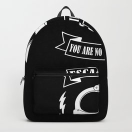 Escapologist You Are No Match For Me Handcuffs Backpack