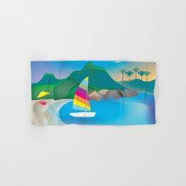 Barbados - Skyline Illustration by Loose Petals Hand & Bath Towel