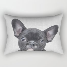 Bulldog Puppy - Colorful Rectangular Pillow