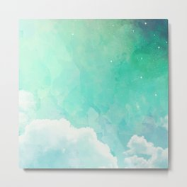 Cloud sky pattern Metal Print