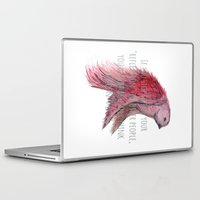text Laptop & iPad Skins featuring birdy text!  by gasponce