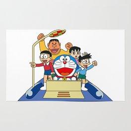 Doraemon Future Transportation Rug