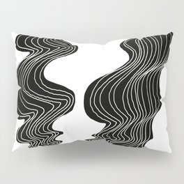 Parallel Lines No.: 02. - White Lines Pillow Sham