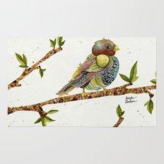 Positivity Bird 2  Rug