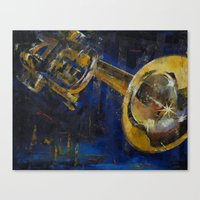 trumpet Canvas Prints featuring Trumpet by Michael Creese