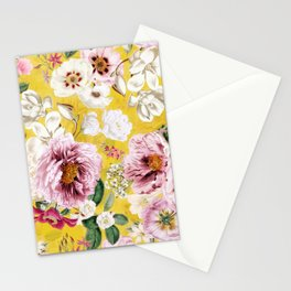 Vintage & Shabby Chic - Colorful Spring Flower Peony Botanical Garden Stationery Cards