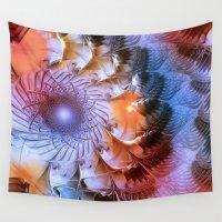 ferris wheel Wall Tapestries featuring Ferris Wheel by Klara Acel