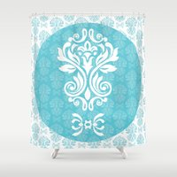 damask Shower Curtains featuring Damask by VanyNany