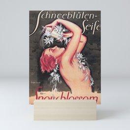 Snow-Blossoms Schneebluten-Seife Skincare German Vintage Advertising Poster Mini Art Print