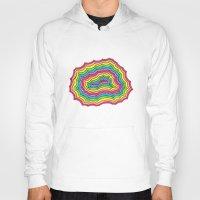 geode Hoodies featuring Rainbow Geode by Audrey Pixel Designs