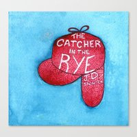 catcher in the rye Canvas Prints featuring The Catcher in the Rye by platypusradio