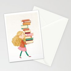 Library Girl 2 Stationery Cards