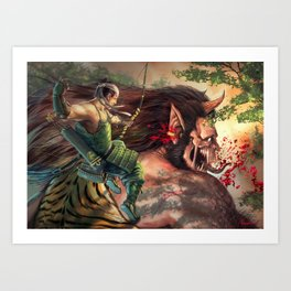 Fearful Volley Art Print