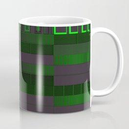 Futuristic industrial grates and technological elements Coffee Mug