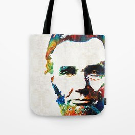 Abraham Lincoln Art - Colorful Abe - By Sharon Cummings Tote Bag