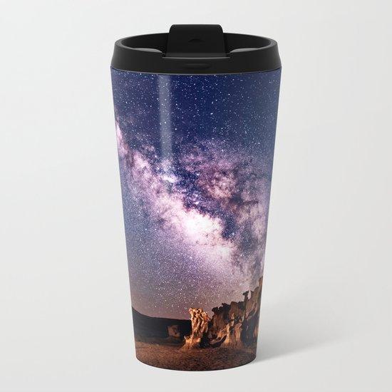 Bisti Badlands Night Sky Metal Travel Mug