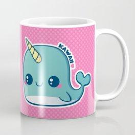 Kawaii Blue Narwhal Coffee Mug