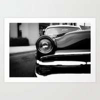 50s Art Prints featuring 50s Ford Custom by TenX