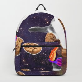 Rave Kitty Cat On Choc Cookie In Space Backpack