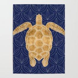 Golden Turtle Poster