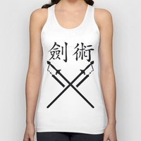 sword Tank Tops featuring China Sword by Littlebell