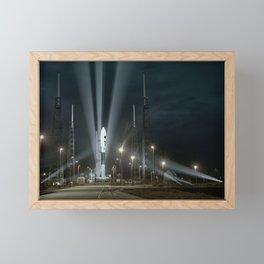 Why Do Rockets Launch At Night Framed Mini Art Print