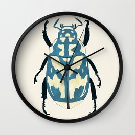 Blue beetle insect Wall Clock