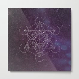 Star of Metatron Metal Print