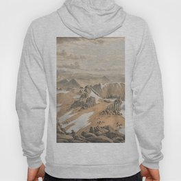 North east view from the top of Mt Kosciusko by Eu von Guerard Date 1866  Romanticism  Landscape Hoody