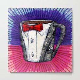 I drew you a Pee-wee Herman Suit Mug of Coffee Metal Print