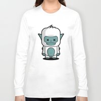 yeti Long Sleeve T-shirts featuring Yeti by m. arief (mochawalk)