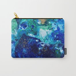 Look Down As The Rain Falls Into The Sea Carry-All Pouch